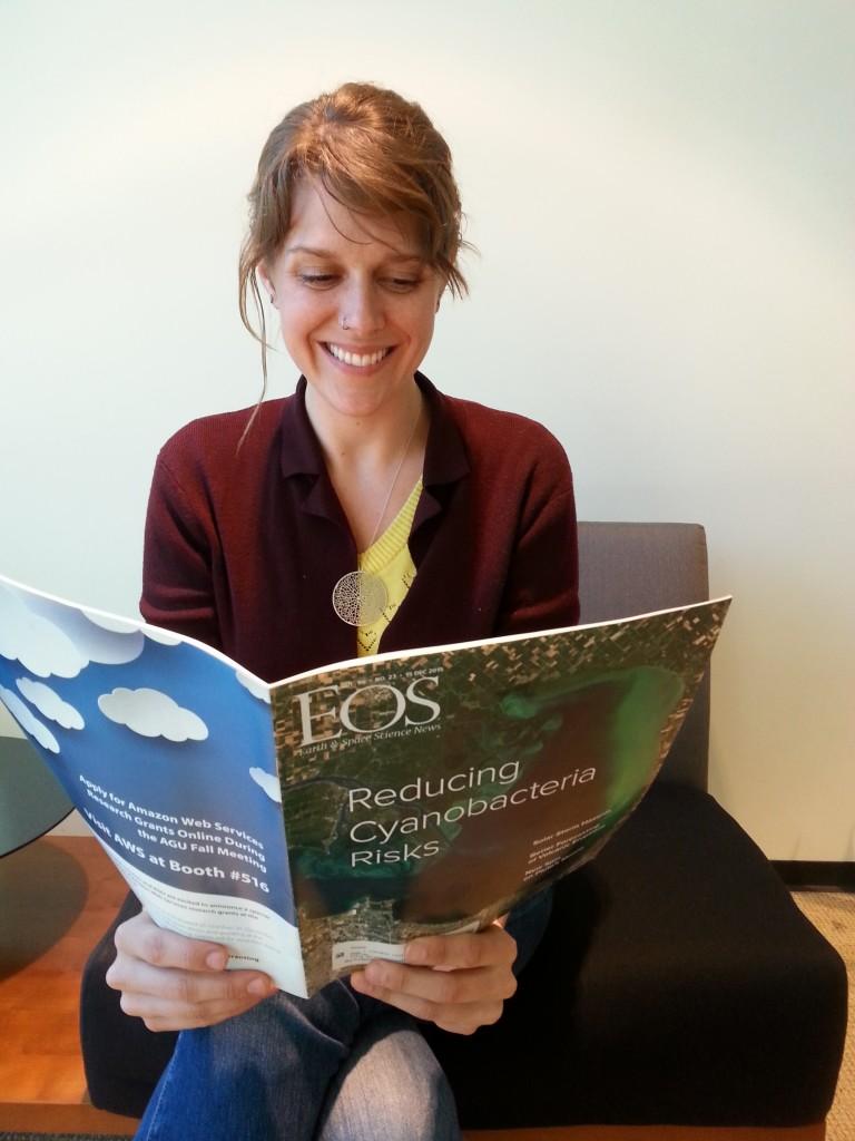 epa fellow reads a magazine