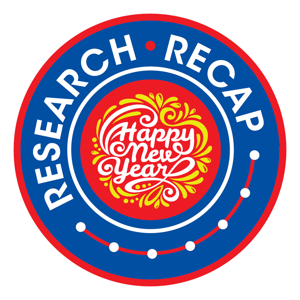 Research Recap with Happy New Year message